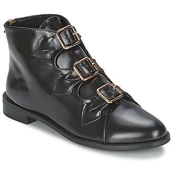 Sapatos Mulher Botins F-Troupe Triple Buckle Boot Preto