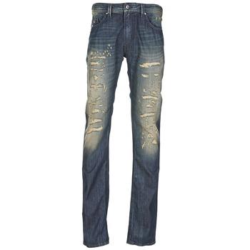 Textil Homem Calças de ganga slim Diesel THAVAR Azul