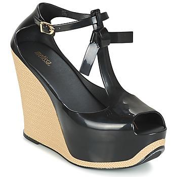Sapatos Mulher Sandálias Melissa PEACE VI Preto / Bege