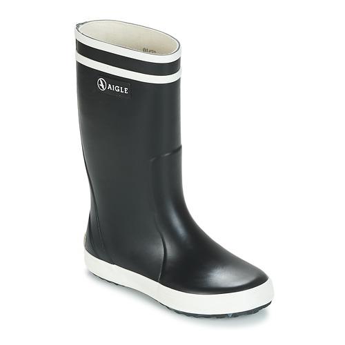 Sapatos Criança Botas de borracha Aigle LOLLY POP Marinho / Branco