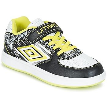 Sapatos Rapaz Sapatilhas Umbro COGAN Preto / Branco / Amarelo