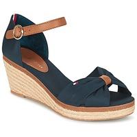 Sapatos Mulher Sandálias Tommy Hilfiger ELBA 40D Marinho / Castanho