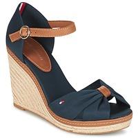 Sapatos Mulher Sandálias Tommy Hilfiger ELENA 56D Marinho / Castanho