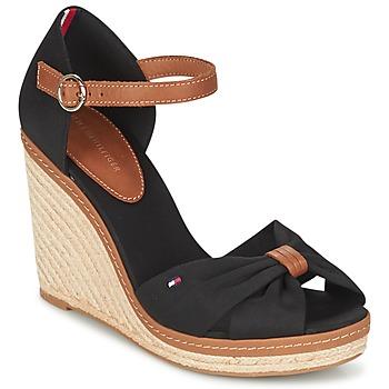 Sapatos Mulher Sandálias Tommy Hilfiger ELENA 56D Preto / Castanho