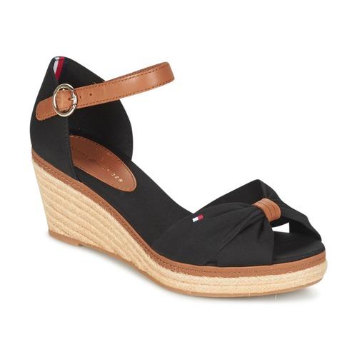 Sapatos Mulher Sandálias Tommy Hilfiger ELBA 40D Preto / Castanho