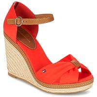 Sapatos Mulher Sandálias Tommy Hilfiger ELENA 56D Coral / Castanho