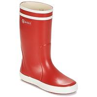 Sapatos Criança Botas de borracha Aigle LOLLY POP Vermelho / Branco