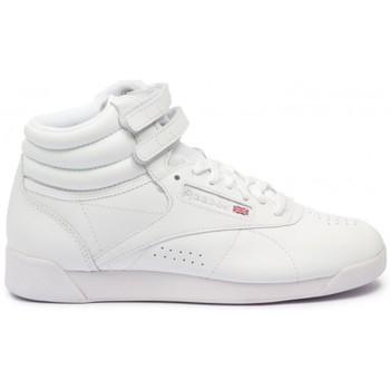 Sapatos Mulher Sapatilhas de cano-alto Reebok Sport Classics Freestyle Hi blanc - bottines femme blanc