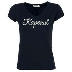 Textil Mulher T-Shirt mangas curtas Kaporal NIAM Preto