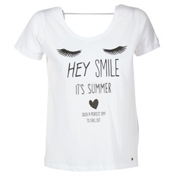 Textil Mulher T-Shirt mangas curtas Kaporal ASMA Branco