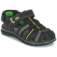 Sapatos Rapaz Sandálias Primigi TEVEZ Preto / Verde
