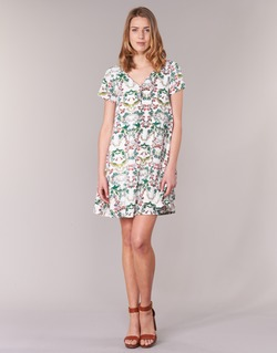 Textil Mulher Vestidos curtos Compania Fantastica EPINETA Branco / Verde / Rosa