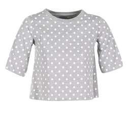 Textil Mulher T-Shirt mangas curtas Compania Fantastica EPOITATI Cinza / Branco
