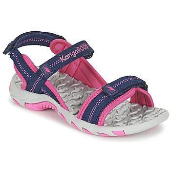 Sapatos Rapariga Sandálias desportivas Kangaroos MUSER Marinho / Rosa