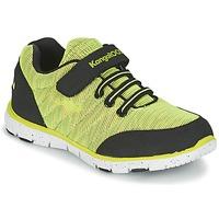 Sapatos Rapaz Sapatilhas Kangaroos NURI ZEBRA Verde / Preto