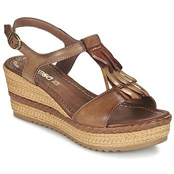 Sapatos Mulher Sandálias Samoa DREDU Castanho