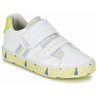 Sapatos Rapaz Sapatilhas Ikks JOE Branco / Amarelo