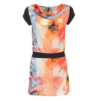 Textil Mulher Vestidos curtos Smash CITRON Laranja / Preto