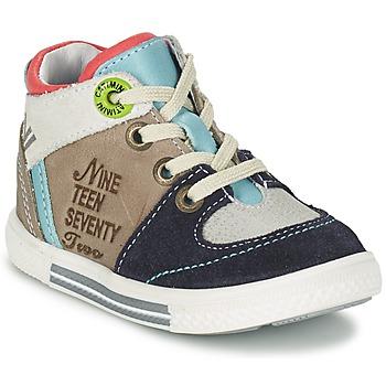 Sapatos Rapaz Sapatilhas de cano-alto Catimini PIMENT Cinza / Turquesa