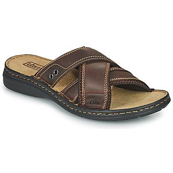 Sapatos Homem Chinelos TBS BENAIX Castanho