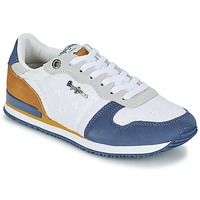 Sapatos Mulher Sapatilhas Pepe jeans GABLE ANGLAISE SOUL Branco / Azul / Cinza