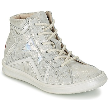 Sapatos Rapariga Sapatilhas de cano-alto GBB PRUNELLA Cinza / Prata