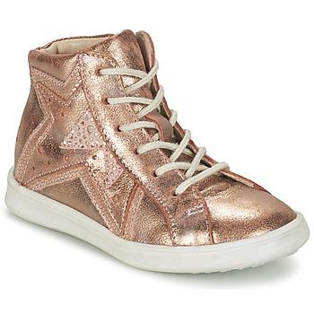 Sapatos Rapariga Sapatilhas de cano-alto GBB PRUNELLA Rosa / Ouro