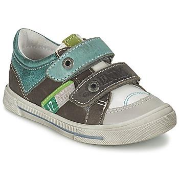 Sapatos Rapaz Sapatilhas GBB PHIL Cinza / Verde