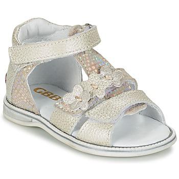 Sapatos Rapariga Sandálias GBB PING Cinza / Prata