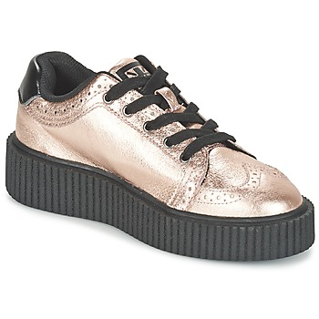 Sapatos Mulher Sapatilhas TUK CASBAH CREEPERS Rosa / Metálico
