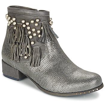 Sapatos Mulher Botas baixas Mimmu MOONSTROP Toupeira / Prata