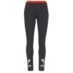 Textil Mulher Collants adidas Originals TREFOIL LEGGING Preto / Rosa
