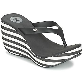 Sapatos Mulher Chinelos Zaxy LIPSTICK V Preto / Branco