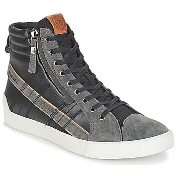 Sapatos Homem Sapatilhas de cano-alto Diesel D-STRING PLUS Preto / Cinza