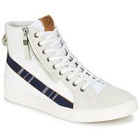 Sapatos Homem Sapatilhas de cano-alto Diesel D-STRING PLUS Branco / Azul