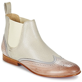 Sapatos Mulher Botas baixas Melvin & Hamilton SALLY 19 Branco