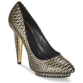 Sapatos Mulher Escarpim Roberto Cavalli YDS622-UC168-D0007 Preto / Dourado