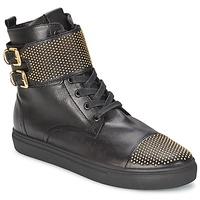 Sapatos Mulher Sapatilhas de cano-alto Kennel + Schmenger URZI Preto / Dourado