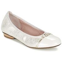 Sapatos Mulher Sabrinas Dorking TELMA Prateado / Bege