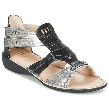 Sapatos Mulher Sandálias Dorking ODA Preto / Prateado