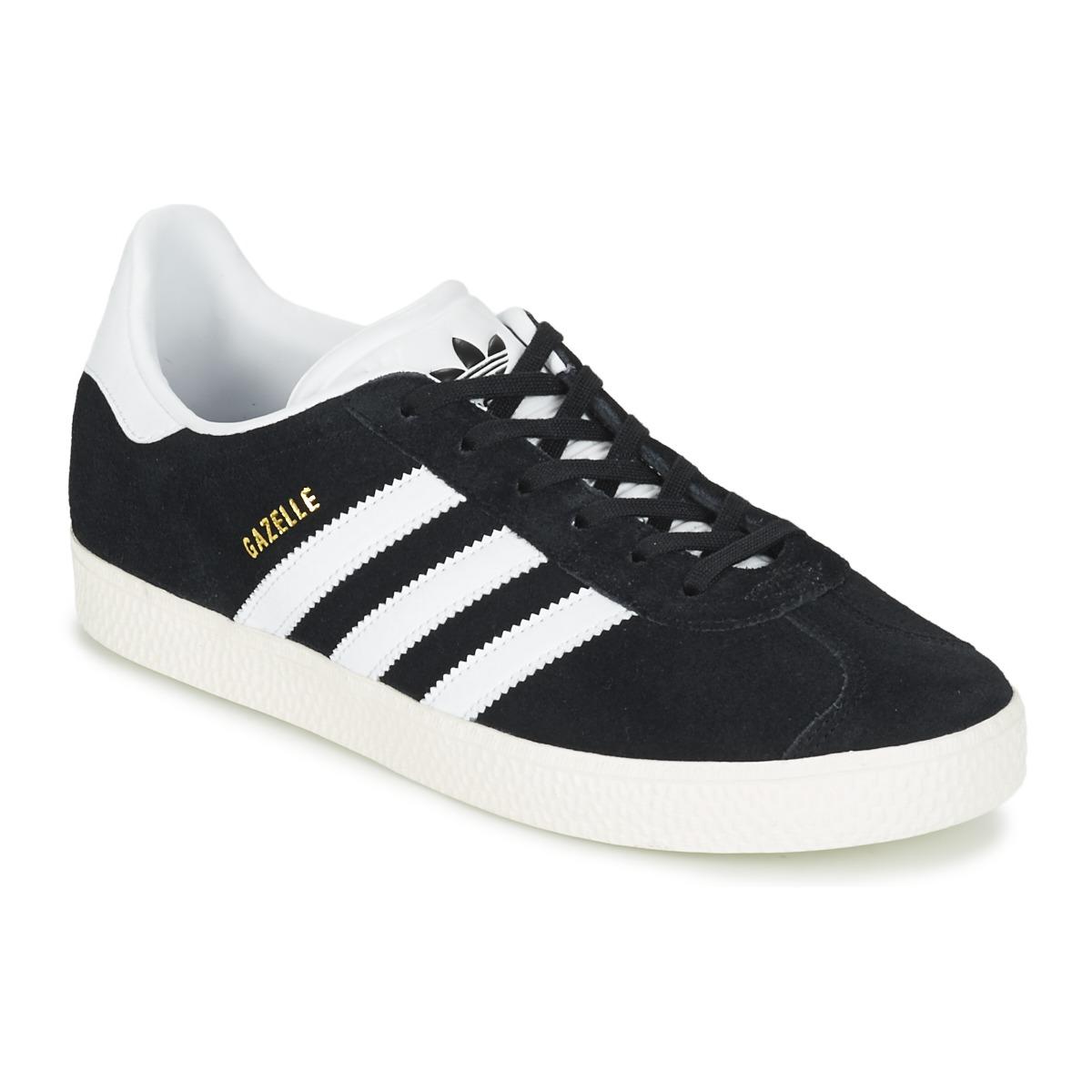 Sapatos Criança Sapatilhas adidas Originals GAZELLE J Preto c444ba2365d42