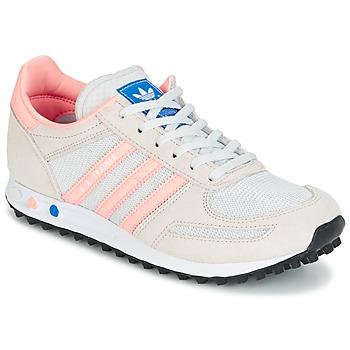 Sapatos Criança Sapatilhas adidas Originals LA TRAINER J Branco / Rosa