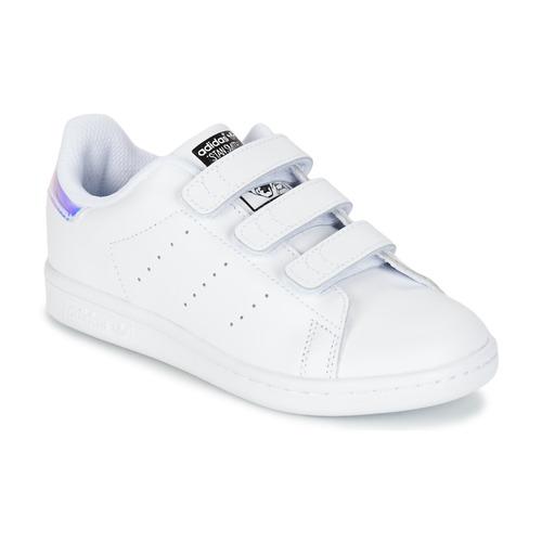 Sapatos Rapariga Sapatilhas adidas Originals STAN SMITH CF C Branco