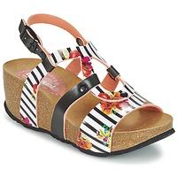 Sapatos Mulher Sandálias Desigual BIO 9 FLORES Preto / Branco / Florido