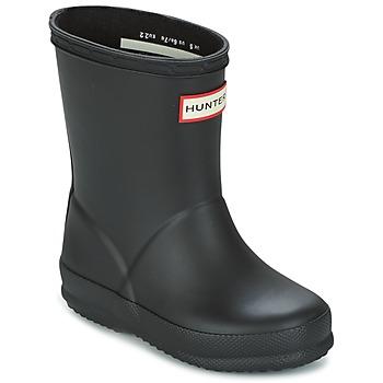 Sapatos Criança Botas de borracha Hunter KIDS FIRST CLASSIC Preto