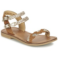 Sapatos Rapariga Sandálias Shwik LAZAR WOWO Camel / Ouro