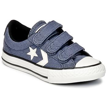 Sapatos Rapaz Sapatilhas Converse STAR PLAYER 3V VINTAGE CANVAS OX Azul / Branco