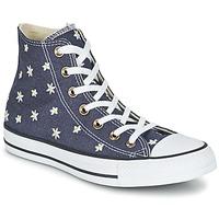 Sapatos Mulher Sapatilhas de cano-alto Converse CHUCK TAYLOR ALL STAR DENIM FLORAL HI Marinho / Amarelo / Branco