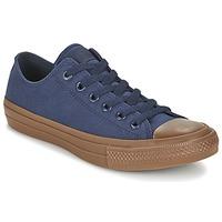 Sapatos Homem Sapatilhas Converse CHUCK TAYLOR ALL STAR II TENCEL CANVAS OX Marinho / Castanho