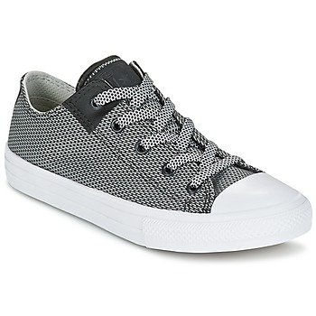 Sapatos Criança Sapatilhas Converse CHUCK TAYLOR ALL STAR II BASKETWEAVE FUSE TD OX Cinza / Branco